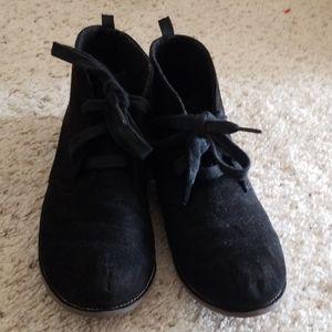 Gymboree boys 2 Y black faux suede boots shoes